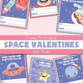 Free Printable Space Valentines for Kids | Real Life at Home