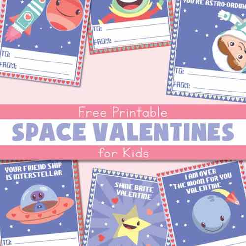Free Printable Space Valentines for Kids   Real Life at Home