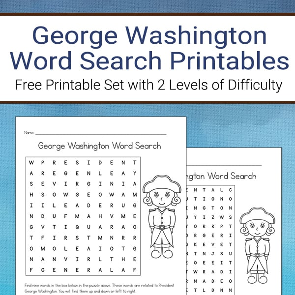 photograph regarding Washington Post Crossword Printable identified as Cost-free George Washington Phrase Look Printable for Little ones