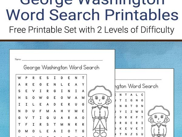 George Washington Word Search (Free Printable)