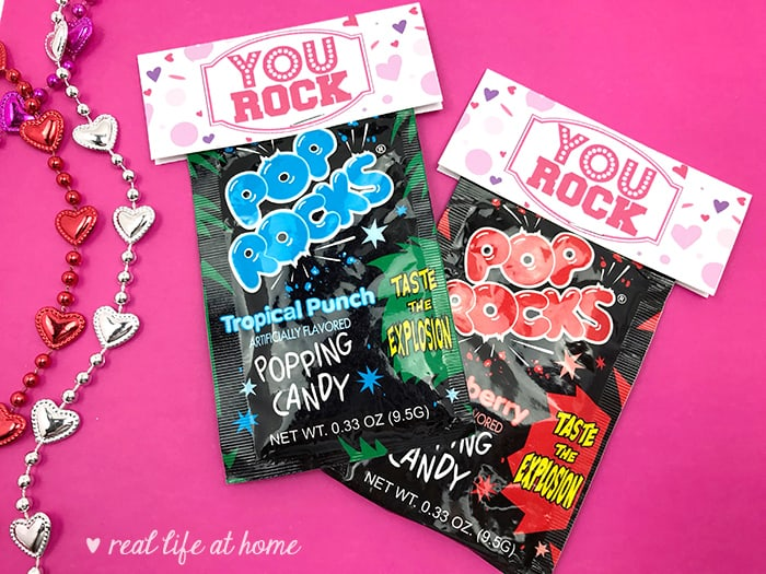picture relating to You Rock Valentine Printable named By yourself Rock\
