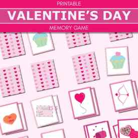 Memory is a fun game for many different ages of children. Enjoy this free printable 16 card (for 16 sets of pairs) Valentine Memory Game for kids. | Real Life at Home