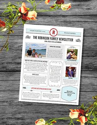 Newsletter Template for Christmas Letter