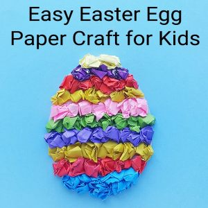 Easy Easter Egg Paper Craft for Kids includes a free printable Easter Egg template from Real Life at Home