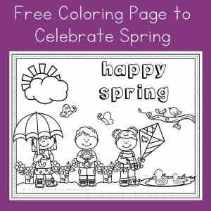 Free Springtime Coloring Page for Kids from Real Life at Home