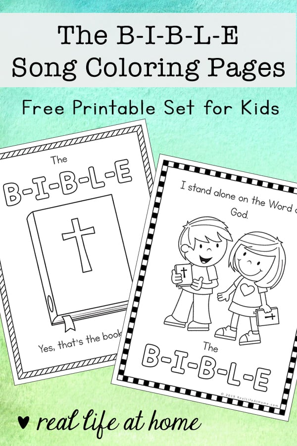 - The B-I-B-L-E Song Coloring Pages Free Printables (The Bible Song)