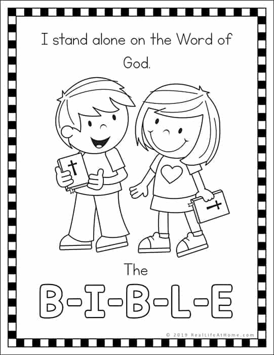 The B-I-B-L-E Song Coloring Pages Free Printables (The