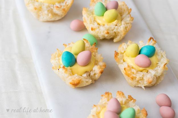 Coconut Nest Cookies - directions and pictures