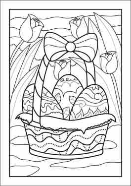 Easter Basket Coloring Page Available Free at Real Life at Home