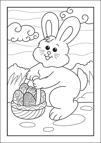 photo about Printable Easter Bunny known as Easter Bunny Coloring Webpages for Youngsters (Cost-free Printable Fastened)