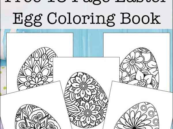 Easter Egg Coloring Pages for Kids and Adults (Free Printable Easter Egg Coloring Book)