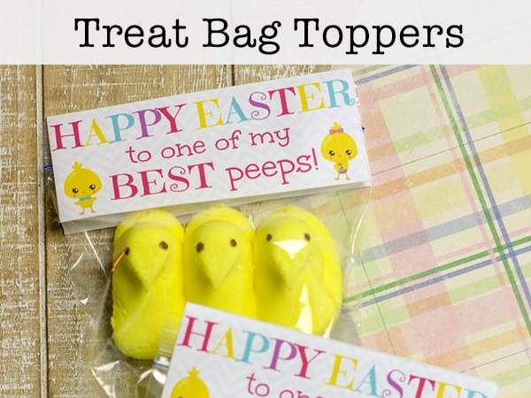 Cute Free Printable Toppers for Easter Treat Bags