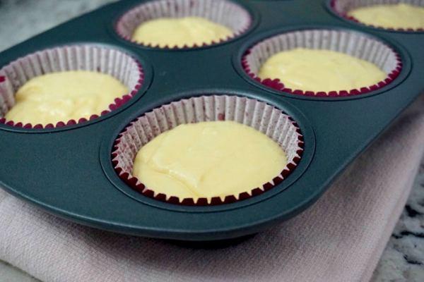 Fill cupcakes 2/3 full - lemon cupcakes recipe