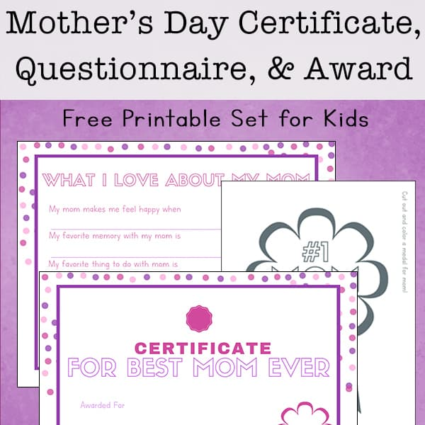 It is a graphic of Free Printable Mother's Day Questionnaire regarding project