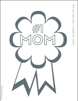 Free printable Number one mom award from Real Life at Home