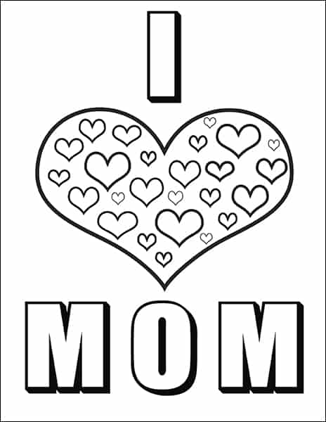 graphic regarding Printable Mothers Day Coloring Pages identified as Totally free Moms Working day Coloring Web pages and Bookmarks Printable Mounted
