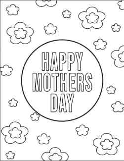 Flowered Mother's Day Coloring Sheet from Real Life at Home