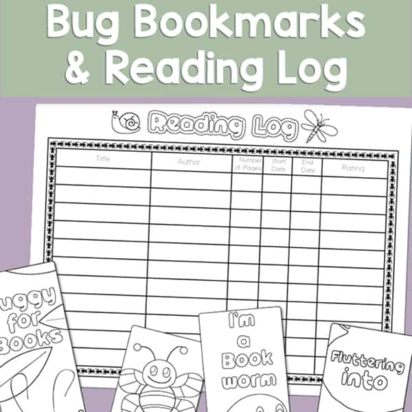 picture regarding Free Printable Reading Logs With Summary referred to as Totally free Printable Bug Bookmarks and Studying Log for Little ones