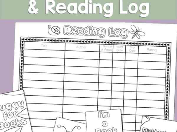 Free Printable Bug Bookmarks and Reading Log for Kids