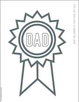 Free Printable Father's Day Badge for Kids to Color