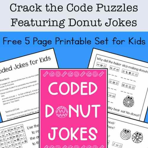 Need some brain teasers and problem solving for kids? They'll enjoy these free printable Crack the Code Puzzles featuring some silly donut jokes.   Real Life at Home