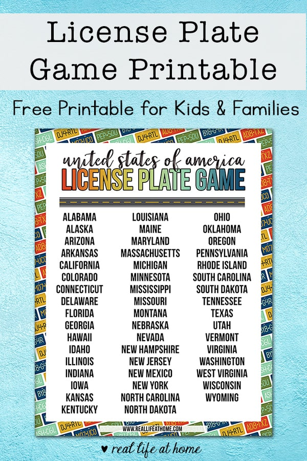 image about Printable License Plate Game named Free of charge Nation License Plate Match Printable for Generate Entertaining