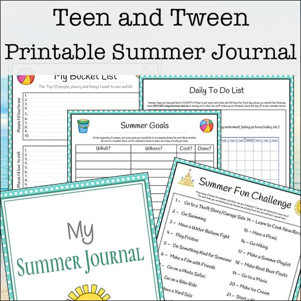 photograph relating to Printable Journaling Pages named Summer season Magazine for Youngsters and Tweens (Totally free 27-web site Printable