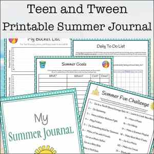 Free Printable Summer Journaling Pages for Teens and Tweens | Real Life at Home