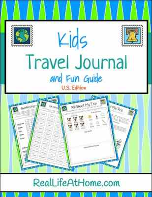 Free Printable Travel Journal for Kids from Real Life at Home