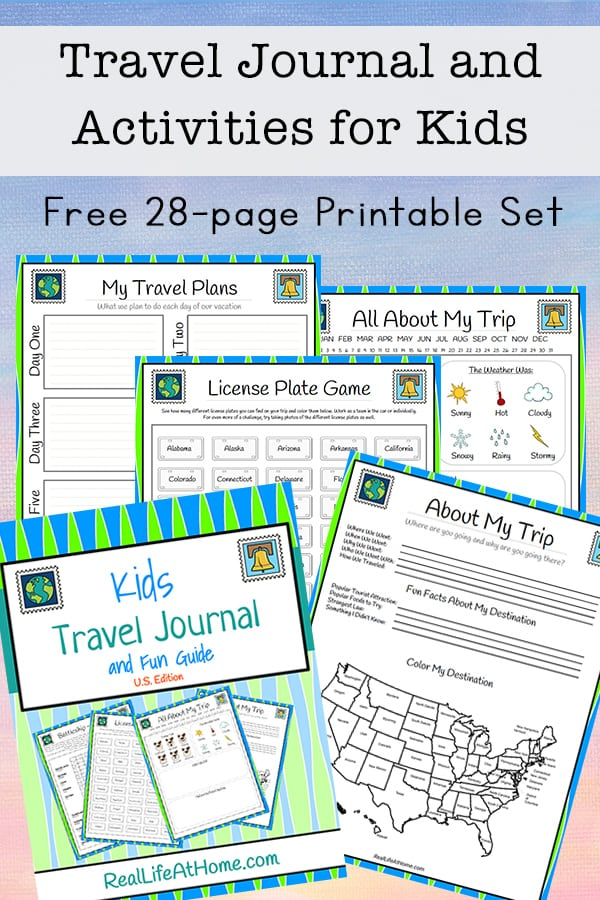 photo relating to Printable Journaling Pages named Drive Magazine for Children - No cost 28-website page Printable Packet