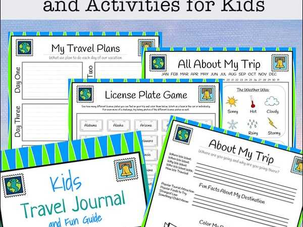 Travel Journal for Kids – Free 28-page Printable Packet