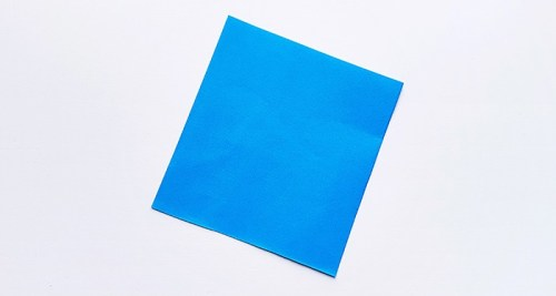 Square paper for 4th of July paper craft project