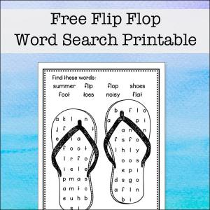 Free Flip Flop Word Search Printable from Real Life at Home