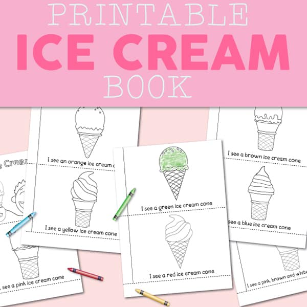 photo relating to Ice Cream Printable known as Totally free Ice Product Printable Hues E-book for Preschool and