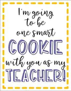 Free Back to School Teacher Gift Tag for Cookies from Real Life at Home