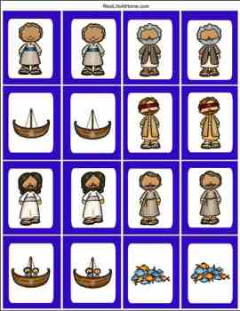 Fishers of Men Printable Memory Cards