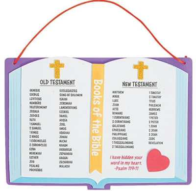 Easy Books of the Bible craft