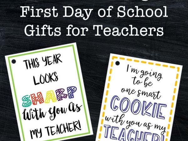 Free Tags for First Day of School Gifts for Teachers (for Sharpie Markers and Cookies)