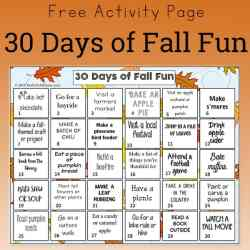 Free Activity Page: 30 Days of Fall Fun for Kids and Families