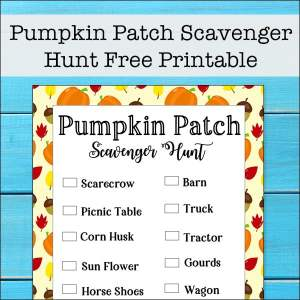 Free Printable Pumpkin Patch Scavenger Hunt Printable