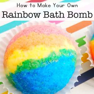 How to Make Rainbow Bath Bombs at Home