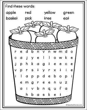 Apple Word Search Printable (Free Printable from Real Life at Home)