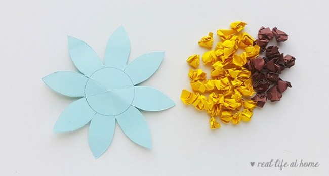 Sunflower Craft for Kids - Step two