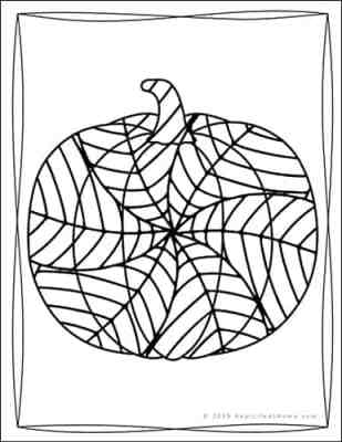 Pumpkin Coloring Pages from the Free Pumpkin Coloring Book from Real Life at Home