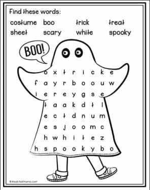 Halloween Costume Word Search Printable from Real Life at Home