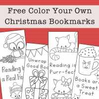 Free Printable Christmas Bookmarks to Color for Kids