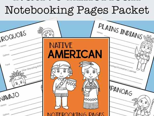 Native American Tribes Notebooking Pages (Report Pages) for Kids