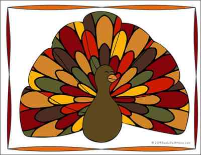 Free Turkey Coloring Page from Real Life at Home