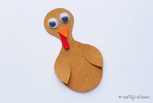 Step 8 of Folded Paper Turkey Craft from Real Life at Home