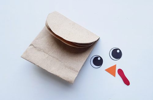 Directions for How to Make a Paper Bag Turkey Craft from Real Life at Home
